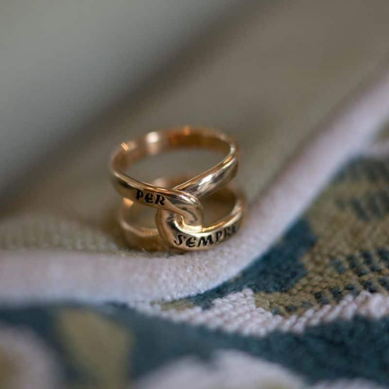 Anello infinito Per Sempre in argento 925 placcato oro Thais Bernardes Gioielli