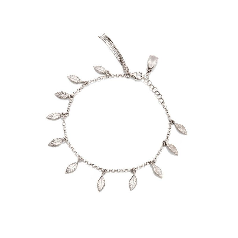 Bracciale con mini piume in argento 925 Thais Bernardes Gioielli