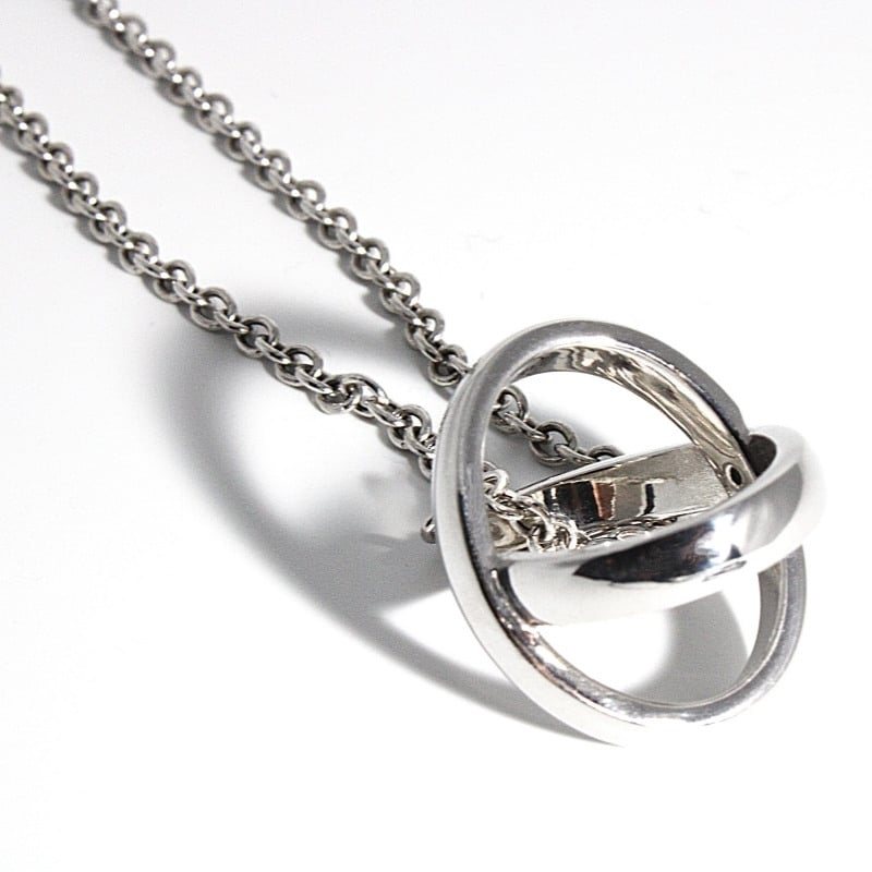collana in argento 925 con ciondolo io tu incrociato con diamante Thais Bernardes Gioielli