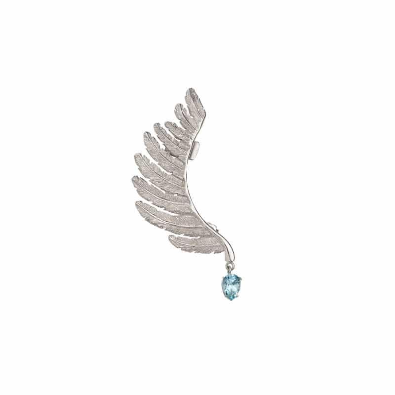 mono orecchino piuma earcuff in argento 925 Thais Bernardes Gioielli