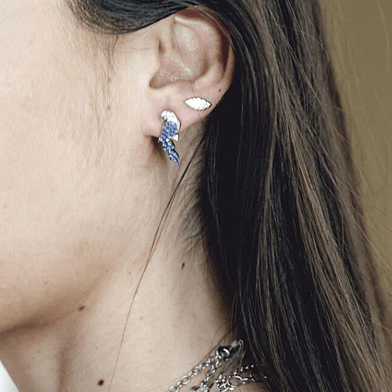 orecchini pappagalli a lobo in argento 925 Thais Bernardes Gioielli
