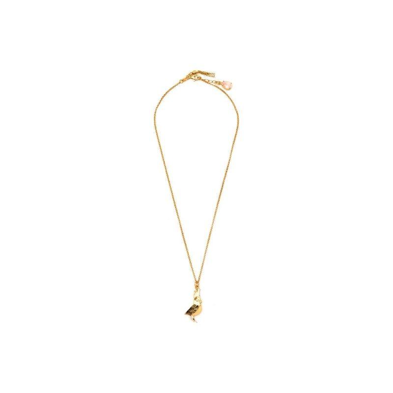 collana cacatua in argento925 placcato oro. Thais Bernardes Gioielli