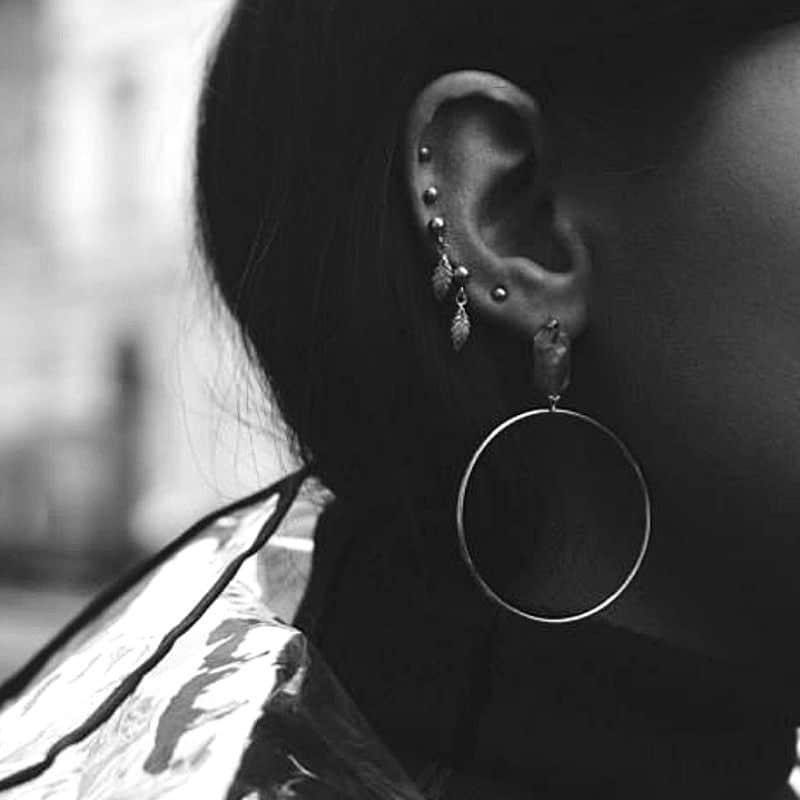 orecchini mini piume pendenti in argento 925 Thais Bernardes Gioielli