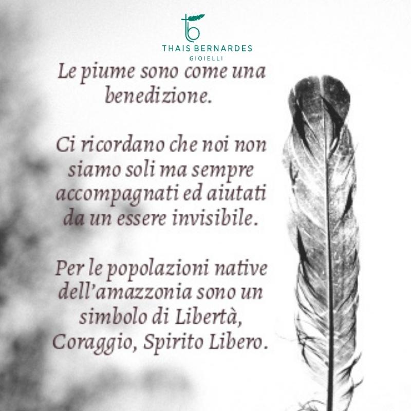il significato delle piume Thais Bernardes Gioielli