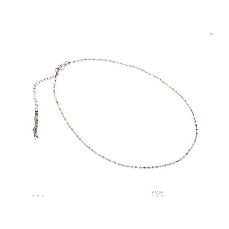 collana nude in argento 925 Thais Bernardes Gioielli