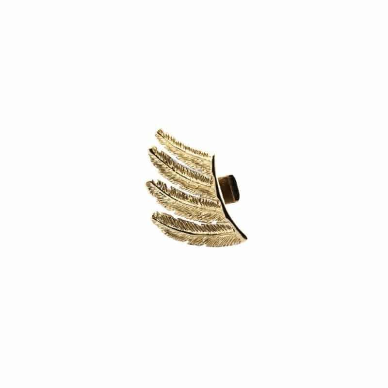 mini mono orecchino piume in argento 925