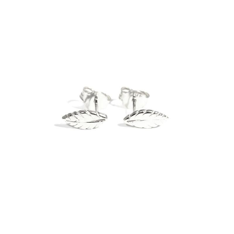 orecchini mini piume in argento 925
