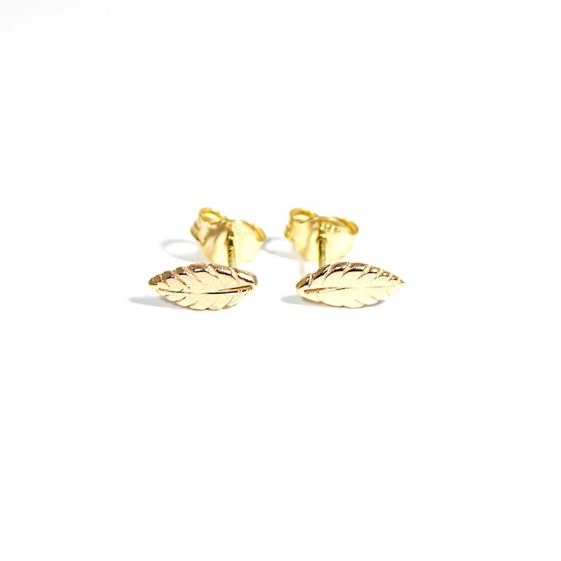 orecchini mini piume