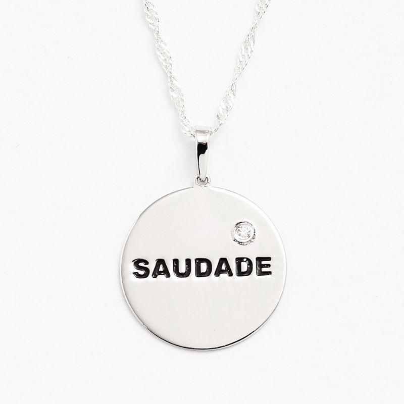 Collane medaglietta saudade in argento 925 Thais Bernardes Gioielli