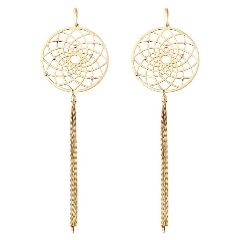 orecchini acchiappa sogni in oro con diamanti Thais Bernardes Gioielli