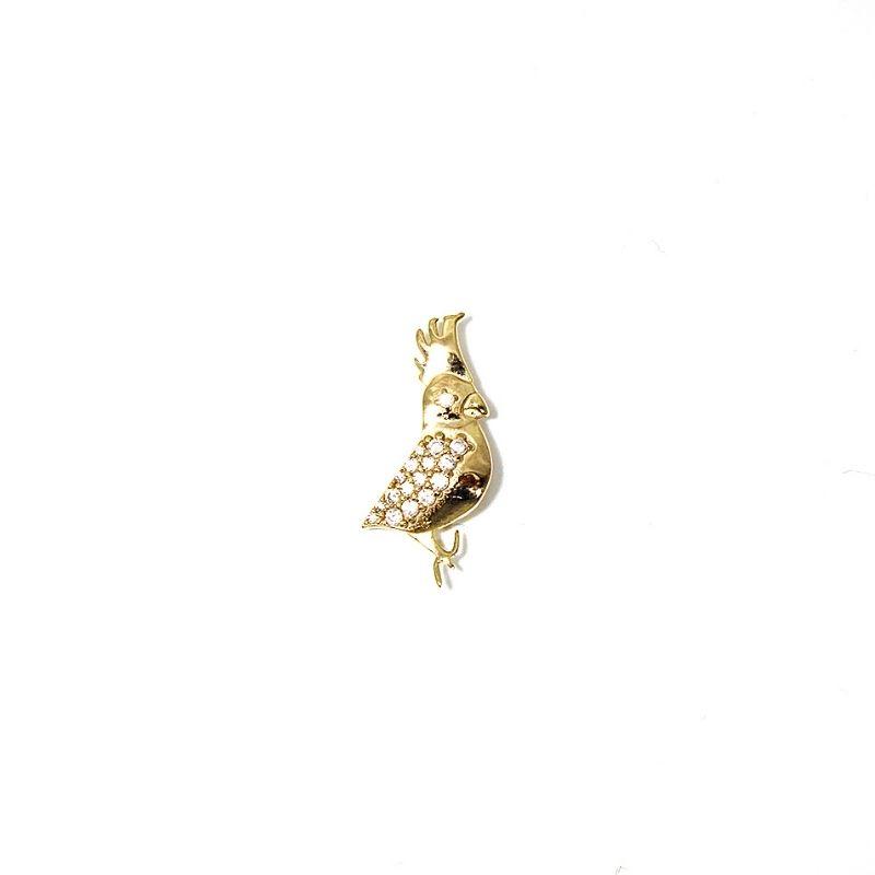 spilla cockatoo, in argento 925. Gioielli made in Italy. Thais Bernardes Gioielli