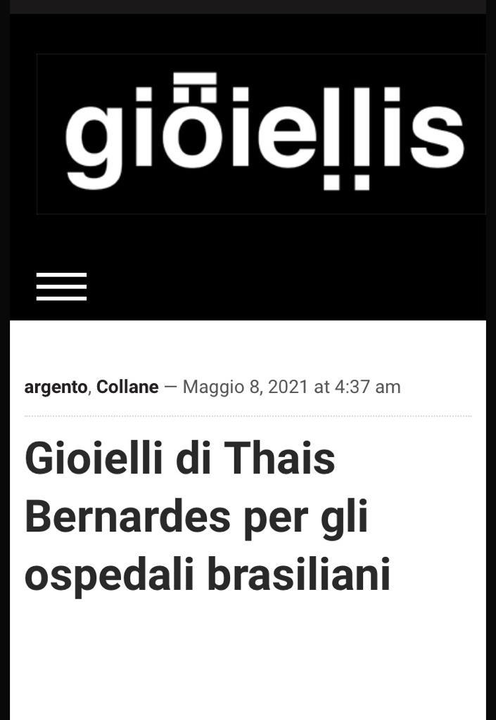 Gioielli di Thais Bernardes Per gli ospedali brasiliani